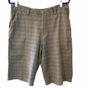 Hurley | Men's Flat Front Plaid Shorts Size 33